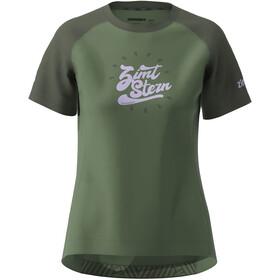 Zimtstern PureFlowz SS Shirt Women, bronze green/forest night